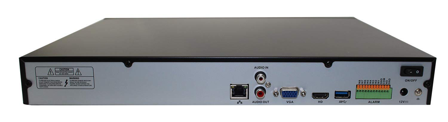 GW Security 16 Channel 2MP NVR VGA H.264 Security Video Recorder Supports Up 10 X 2MP 1080P Quick QR Code Fast Playback