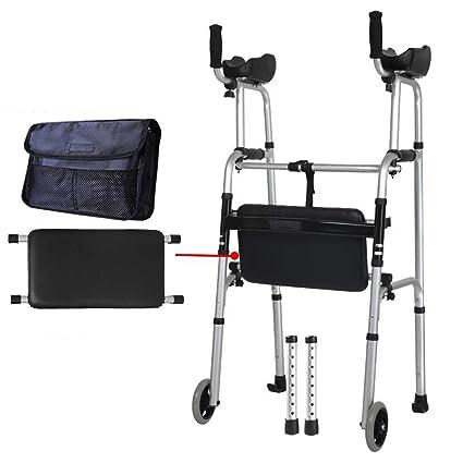FFLSDR Andador con Pasamanos para Ancianos Discapacitados Aleación ...