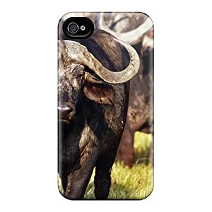 New Animal African Buffalo Cases Covers, Anti-scratch TIS6323IaHU Phone Cases For Iphone 6plus