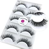 (US) Luxurious 100% Siberian Mink Fur 3D False Eyelash LASGOOS Degisn Natural Messy Corner Thick Volume Fluffy Soft Fake Eyelashes 5 Pairs/Box (A19)