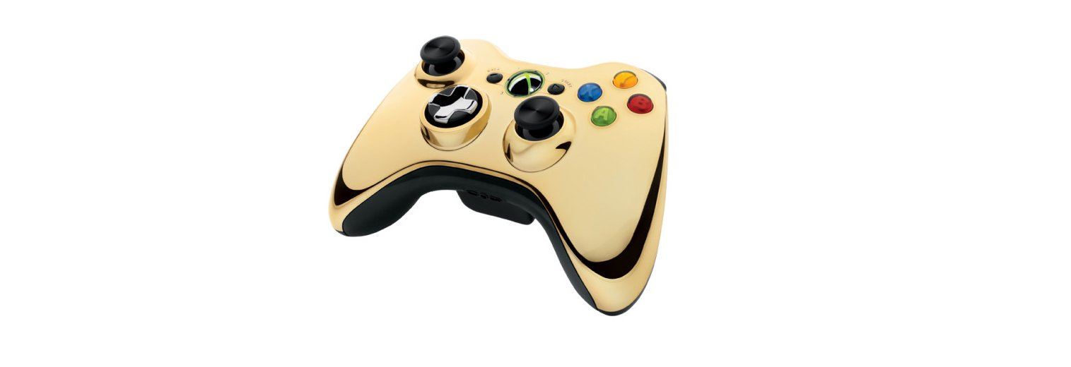 Xbox 360 Wireless Controller - Gold Chrome by Microsoft (Image #2)
