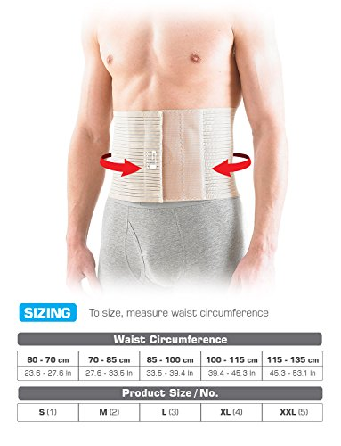 NEO G Upper Abdominal Hernia Support - XX-LARGE - Beige - Medical Grade Quality, breathable & adjustable, pre/post-surgery aid HELPS reduce symptoms of overstrain & exertion, abdominal hernias -Unisex by Neo-G (Image #4)