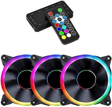 WSNM Colorido Ventilador RGB Ventilador de enfriamiento 6PIN 12 cm ...