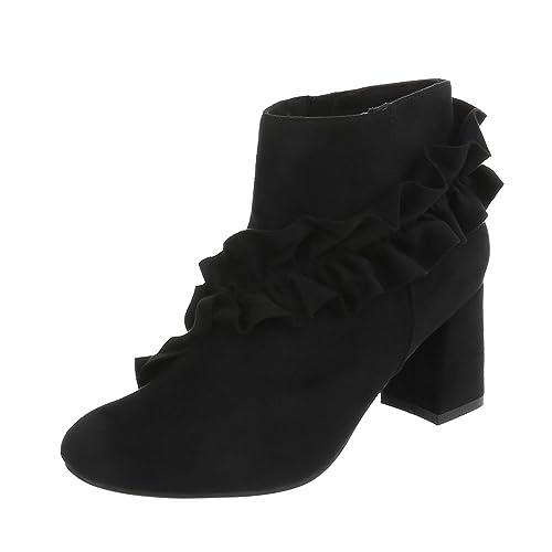 Zapatos para Mujer Botas Mini Tacón Botines Clásicos Negro Tamaño 38: Amazon.es: Zapatos y complementos