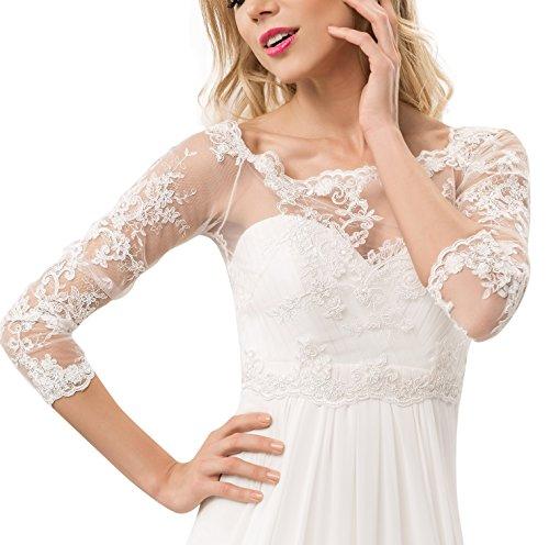 BridalWear Bridal Ivory White Tulle Bolero Shrug Wedding Jacket Shawl S M L XL XXL XXXL OssaFashion