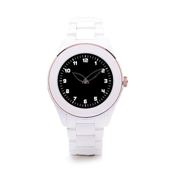 9a66816a0d40 Algunos diferentes hombres de cerámica color blanco reloj deportivo   Amazon.es  Relojes