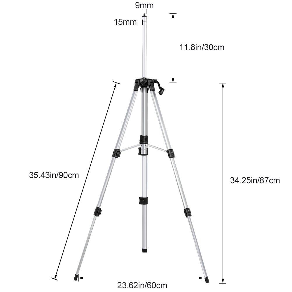 1,2m Cavalletto pieghevole treppiede con borsa per strumento di misurazione del livello autolivellante
