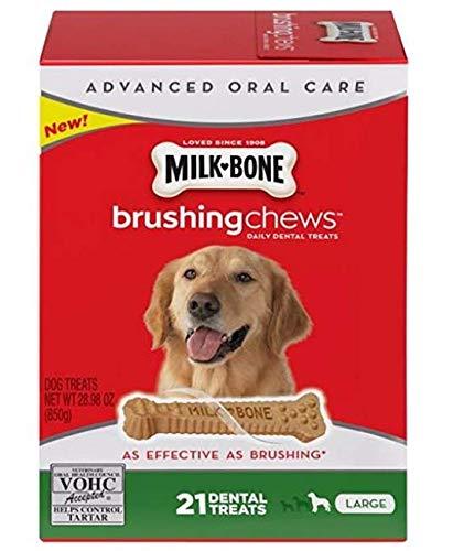 Milk Bone Large/28.3 Oz Brushing Chews Daily Dental Dog Treats, One Size (Milk Bone Brushing Chews Bad For Dogs)