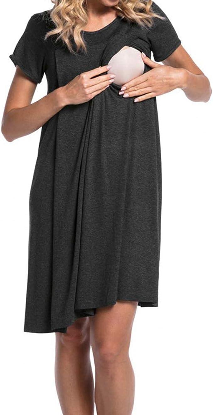Yying Maternity Ropa de Dormir Ropa de Maternidad Ropa de Lactancia Embarazada Vestido de Lactancia para el Embarazo Pijamas: Amazon.es: Ropa y accesorios