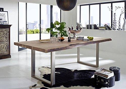 Massivmöbel Landhausstil Natural Stone lackiert massiv Holz Baumtisch 230x110 Akazie Holz massiv Möbel Freeform #130