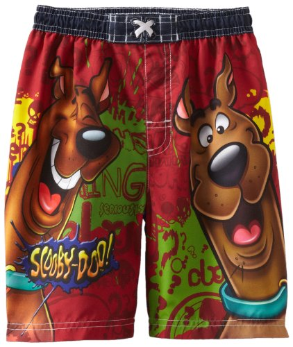 Scooby Doo Little Boys' All Over Print Swim Trunk
