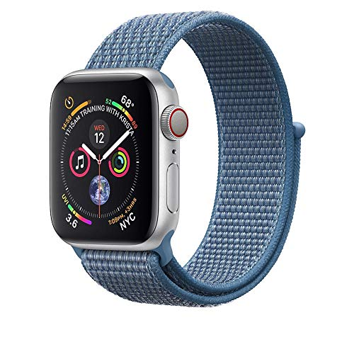AdMaster Compatible for Apple Watch Band 42mm 44mm, Soft Nylon Sport Loop Replacement Wristband Compatible iWatch Apple Watch Series 4/3/2/1 Cape Code Blue