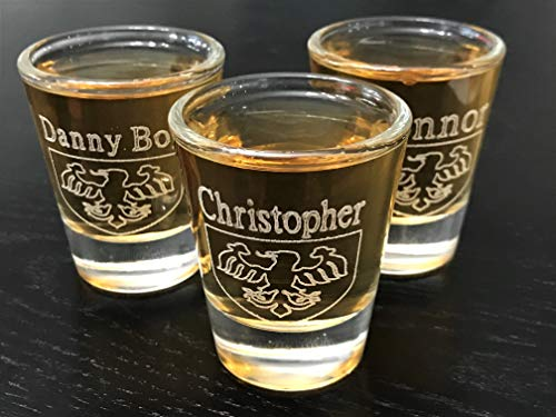 3 Custom engraved Shot Glasses Engraved and personalized 2oz Groomsmen Bride /& Groom gift set bachelor party Anniversaries shot glasses for weddings