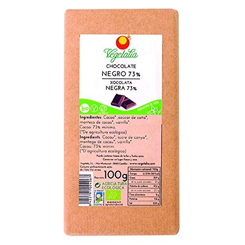 Vegetalia, Barrita grande de chocolate (Negro) – 100 gr.