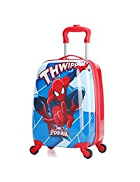 X-tag 18'' Carry on Children's Luggage Hard Side Suitcase Travel Rolling Toddlers (Spiderman)