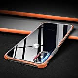 Electronics : Beautiful Safe Individualization Case for iPhone X With TPU + TPE Shockproof Transparent Protective Perfectly match For Iphone X case (Color : Orange)