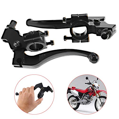 Left & Right Handle Bars Brake Clutch Handle Lever Perch For Honda C200 CR100 CR250 CR80R CRF100F CRF250L CRF450R XL100 XL250 XR100 XR250