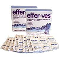 Effer-Ves x 2 Boxes ~ Cleaning Retainer Braces & Clear Aligners (Total 64 Tablets)