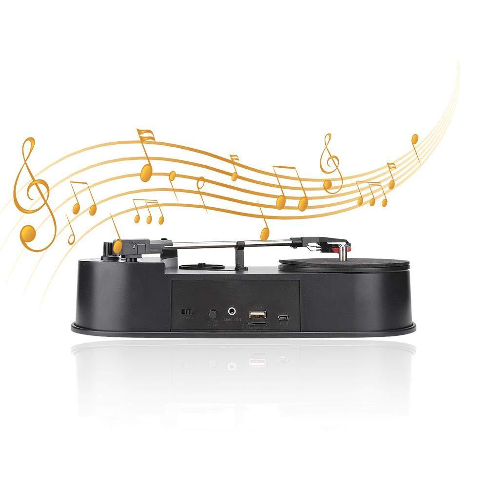 33/45 RPM Mini Record Player Convertidor de Audio portátil ...