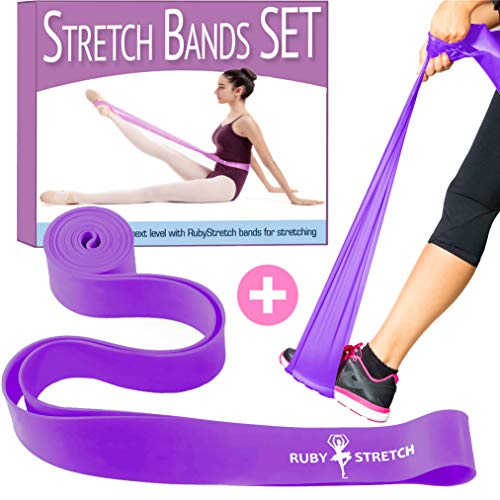 Stretch Bands for Dance and Ballet - Exercise Resistance Band Set for Dance - 2 Resistance Bands for Stretching, Dance and Gymnastics Training - Gift Box + Stretching Guide + Carrying Bag ()