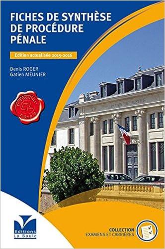Livres Fiches de synthèse de Procédure Pénale epub, pdf