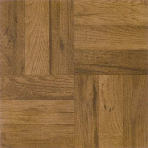 - Achim Home Furnishings FTVWD22520 Nexus 12-Inch Vinyl Tile, Wood 3 Finger Medium Oak Parquet, 20-Pack