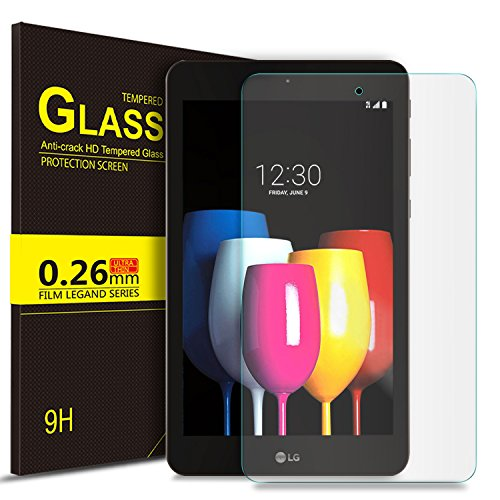 IVSO LG G Pad F2 8.0 Sprint (LK460)/T-Mobile LG G Pad X2 8.0 PLUS Tempered-Glass Screen Protector, [No-Bubble] for LG GPad F2 8.0 Sprint Model LK460 8-Inch Android Tablet 2017 Release (2pcs) by IVSO