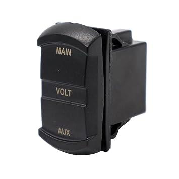Homyl Voltaje Dual Voltímetro 10-60V Pieza de Accesorios para Coche Carro Auto Barco -