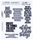 Stampers Anonymous CMS252 Ponderings Tim Holtz Cling Stamps, 7'' by 8.5'', Clear