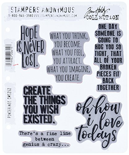 Stampers Anonymous CMS252 Ponderings Tim Holtz Cling Stamps, 7'' by 8.5'', Clear by Stampers Anonymous