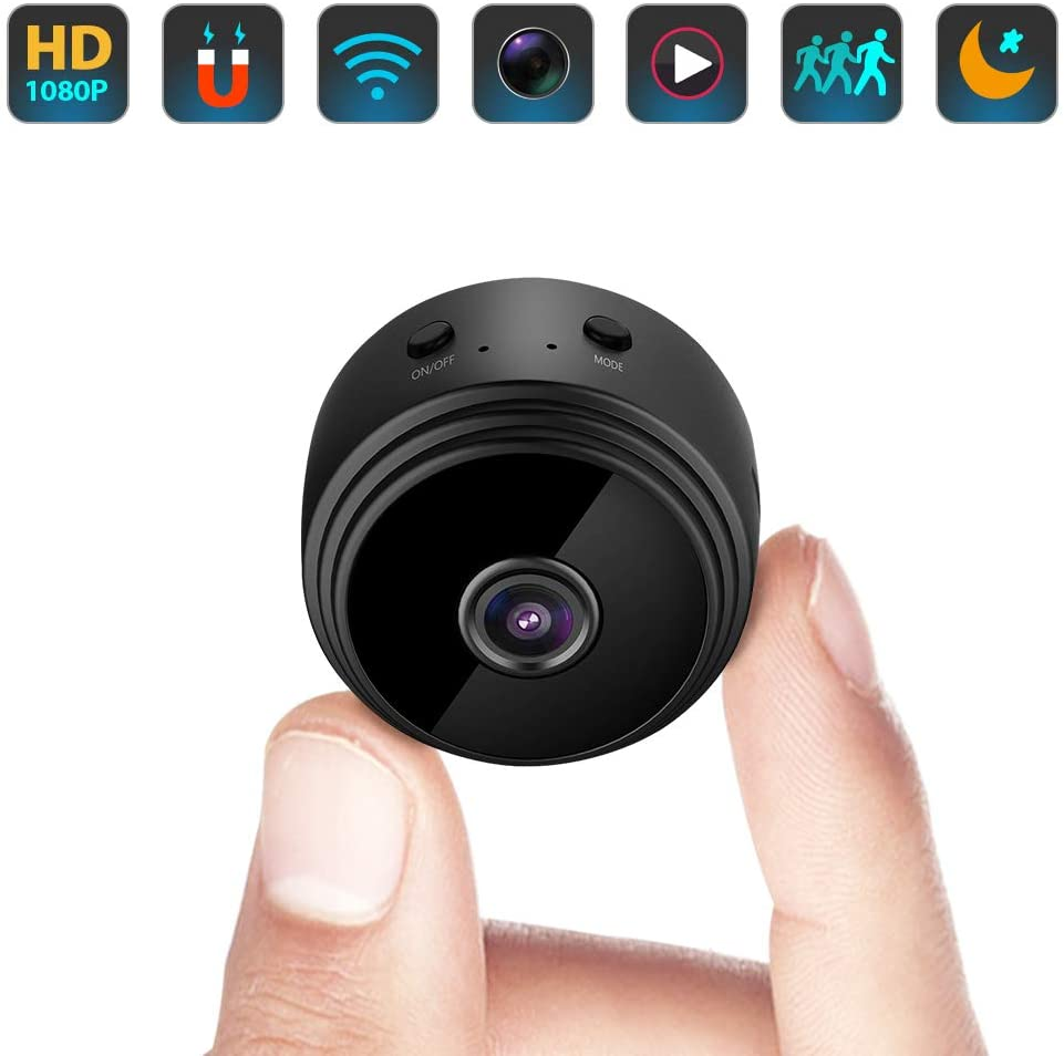 Amazon Com Mini Spy Camera Hidden Wifi Small Wireless Video Camera With Full Hd 1080p Audio Night Vision Motion Sensor Detection Support Sd Card For Iphone Android Security Nanny Surveillance Cam