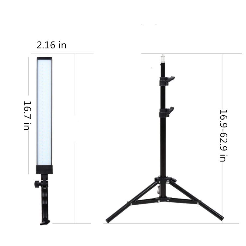 GIJUANRING LED Photography Dimmable Lighting Kit 5600K Photo Studio Led Light Kit with Tripod Stand for Portrait Video and Shooting