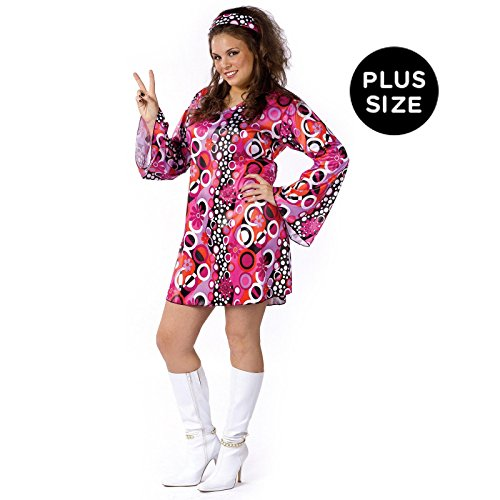 Feelin' Groovy Adult Costume - Plus Size 1X/2X - Plus Size Women Halloween Costume Ideas
