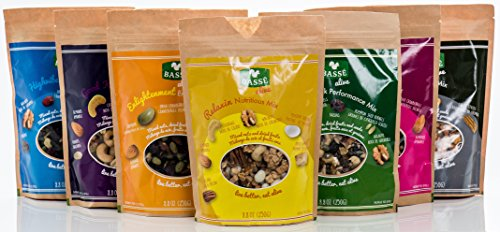 Mega Snack Pack, Over 15lbs of Dried Fruit, Trail Mixes, Nutsterz Spicy Peanuts, and Assorted Basse Nuts - Variety Pack of Superfoods and Healthy Snacks for Good Energy & Nutrition (27 Bags Total) by Basse (Image #3)