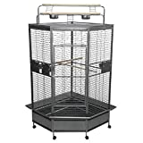 A&E Cage Co. CC3232 Black Corner Bird Cage, 32/Large Larger Image