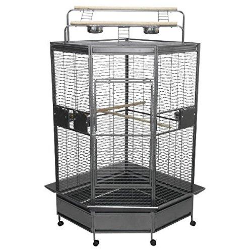 A&E Cage Co. CC3232 Black Corner Bird Cage, 32''/Large by A&E Cage Co.