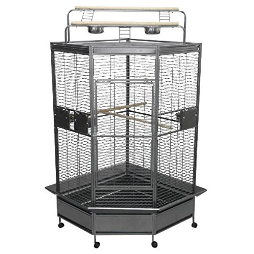 A&E Cage Co. CC3232 Black Corner Bird Cage, 32