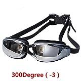 Cool SZ -2.00 TO -8.00 Swimming Prescription Myopia Nearsighted Goggles Glasses Degree:300