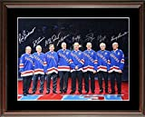 New York Ranger Retired Numbers Steiner Autographed Signed 16x20 Framed Photo Messier Leetch