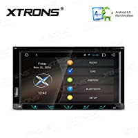 XTRONS Android 6.0 Double 2 Din 6.95 Inch HD Digital Capacitive Touch Screen Car Stereo Radio DVD Player GPS Screen Mirroring Function 1080P Video
