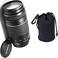 Canon 75-300mm III Zoom Lens + Lens Carrying Pouch