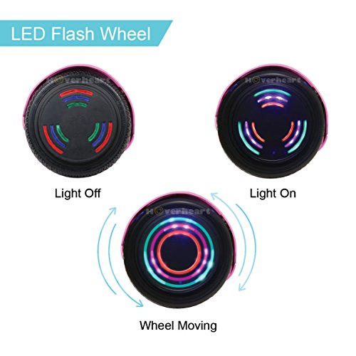 Hoverboard UL 2272 Certified Flash Wheel 6.5'' Bluetooth Speaker with LED Light Self Balancing Wheel Electric Scooter (Chrome Pink) by Hoverheart (Image #4)