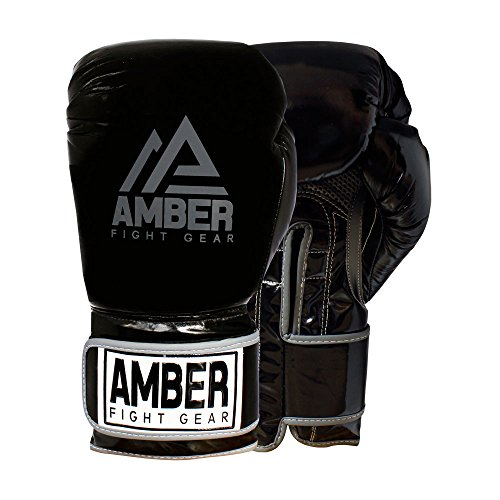 Amber Fight Gear AP-100 Precision Boxing Kickboxing Muay Thai Sparring Punching Mitts, 16oz