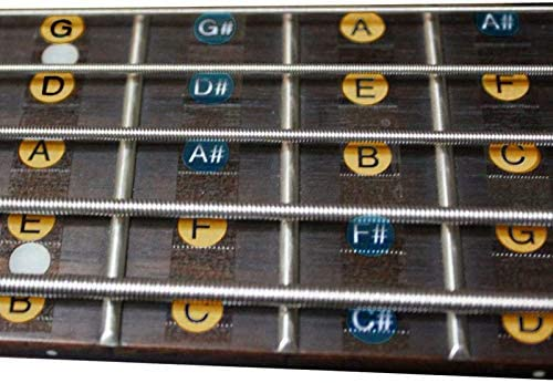 2PCS/PACK 4 cuerdas Guitarra bajo Balanzas pegatinas diapasón ...