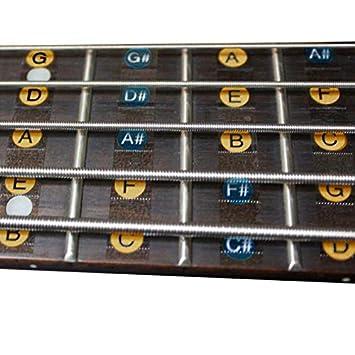 Paquete de 2 pegatinas de 4 cuerdas para guitarra y bajo, para ...