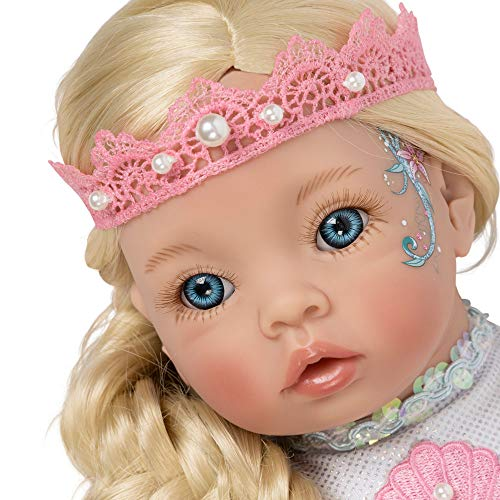 Paradise Galleries Reborn Mermaid Doll - Pearl Little Mermaid, 21 inches Head to Tail, Posable Tail - Lee Pearl Bracelets