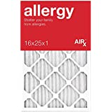 AiRx ALLERGY 16x25x1 Air Filters - Best for Allergy Protection - Box of 6 - Pleated 16x25x1 MERV 11 Air Filters...