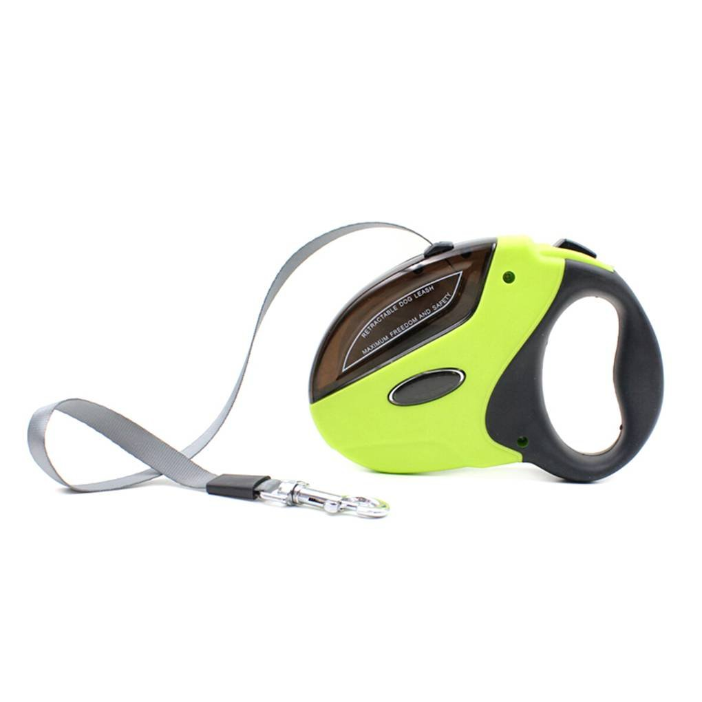 MuLuo 5m/50kg Nylon Retractable Pet Leash Traction Rope One Key Button Operation Harnesses Pet for Running/Walking by MuLuo