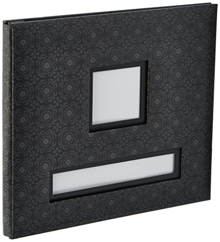 K&Company Black Frame-A-Name Post Bound Album 12