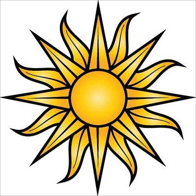 - Sun Yellow Tribal Design Vinyl Sticker - Car Phone Helmet - SELECT SIZE